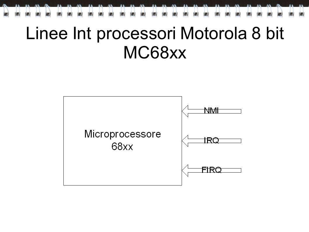 Linee Int processori Motorola 8 bit MC68xx