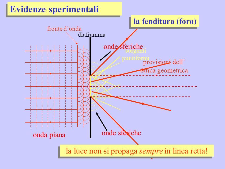onda piana fronte donda il disco disco opaco diffrazione luce al centro del disco dombra.