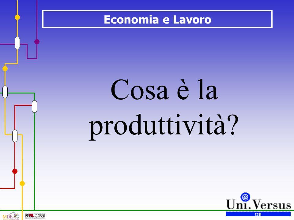 Economia e Lavoro Cosa è la produttività