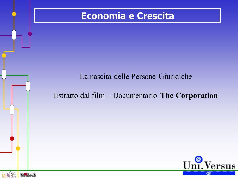 Economia e Crescita La nascita delle Persone Giuridiche Estratto dal film – Documentario The Corporation