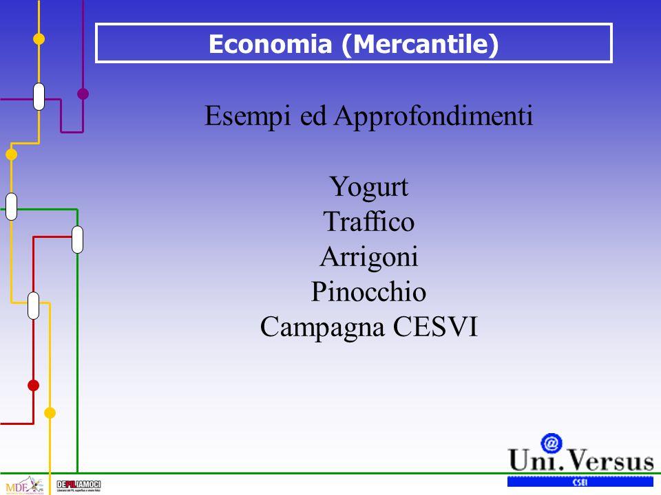 Economia (Mercantile) Esempi ed Approfondimenti Yogurt Traffico Arrigoni Pinocchio Campagna CESVI