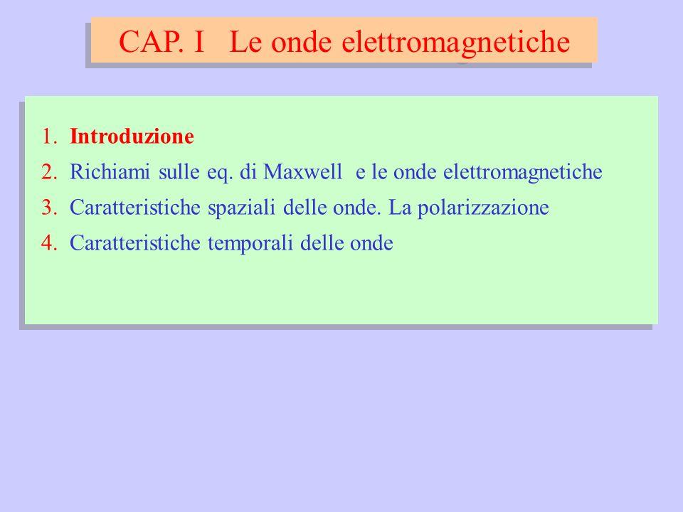 onde monocromatiche e, per unonda sferica: E(r, t) x y r z
