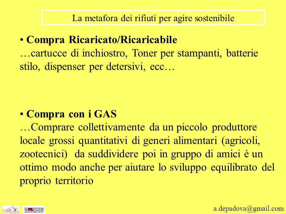 a.depadova@gmail.com La metafora dei rifiuti per agire sostenibile Compra Ricaricato/Ricaricabile …cartucce di inchiostro, Toner per stampanti, batter