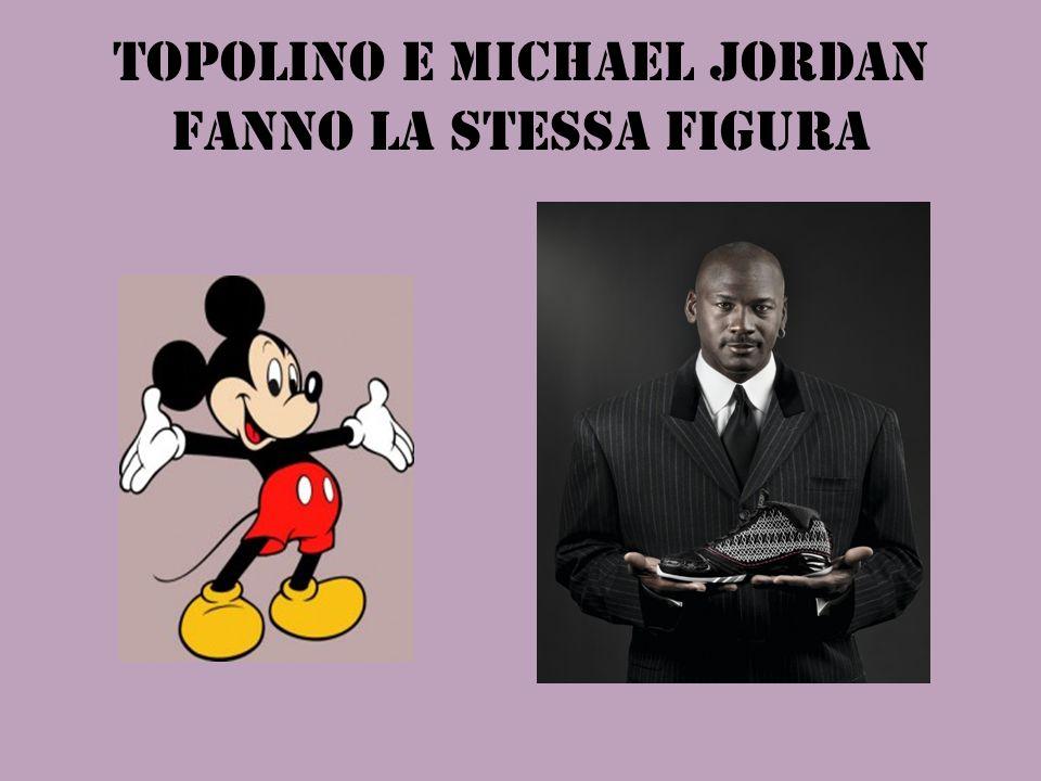 TOPOLINO E MICHAEL JORDAN FANNO LA STESSA FIGURA