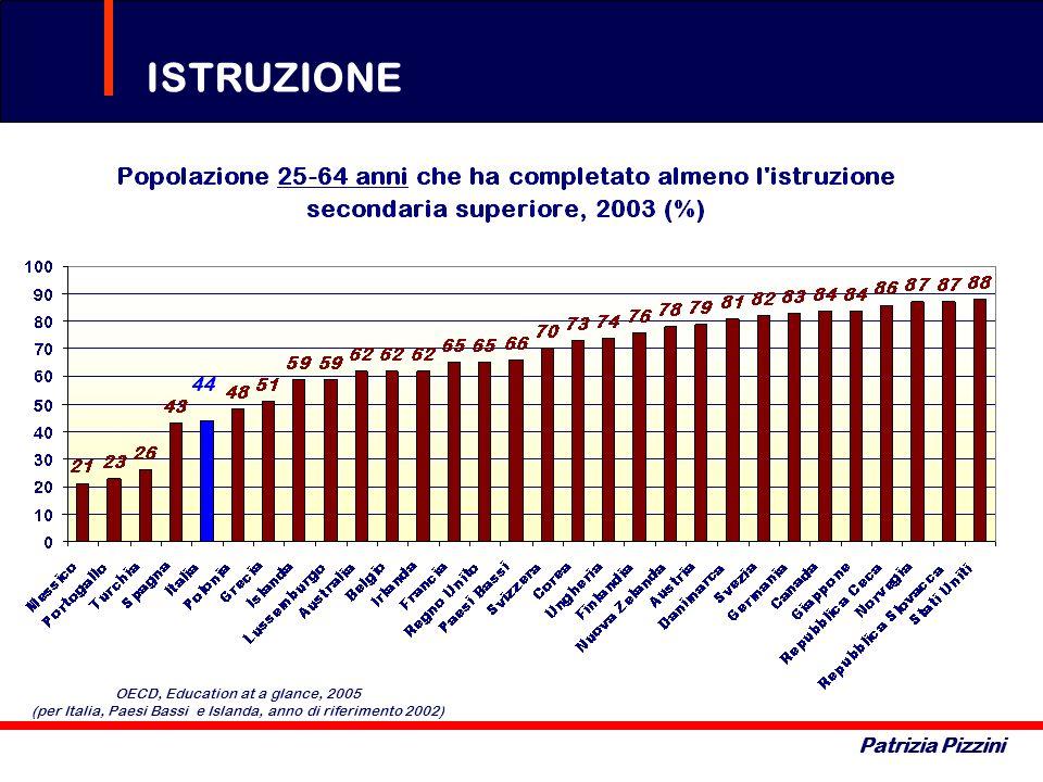 ISTRUZIONE Patrizia Pizzini OECD, Education at a glance, 2005 (per Italia, Paesi Bassi e Islanda, anno di riferimento 2002)