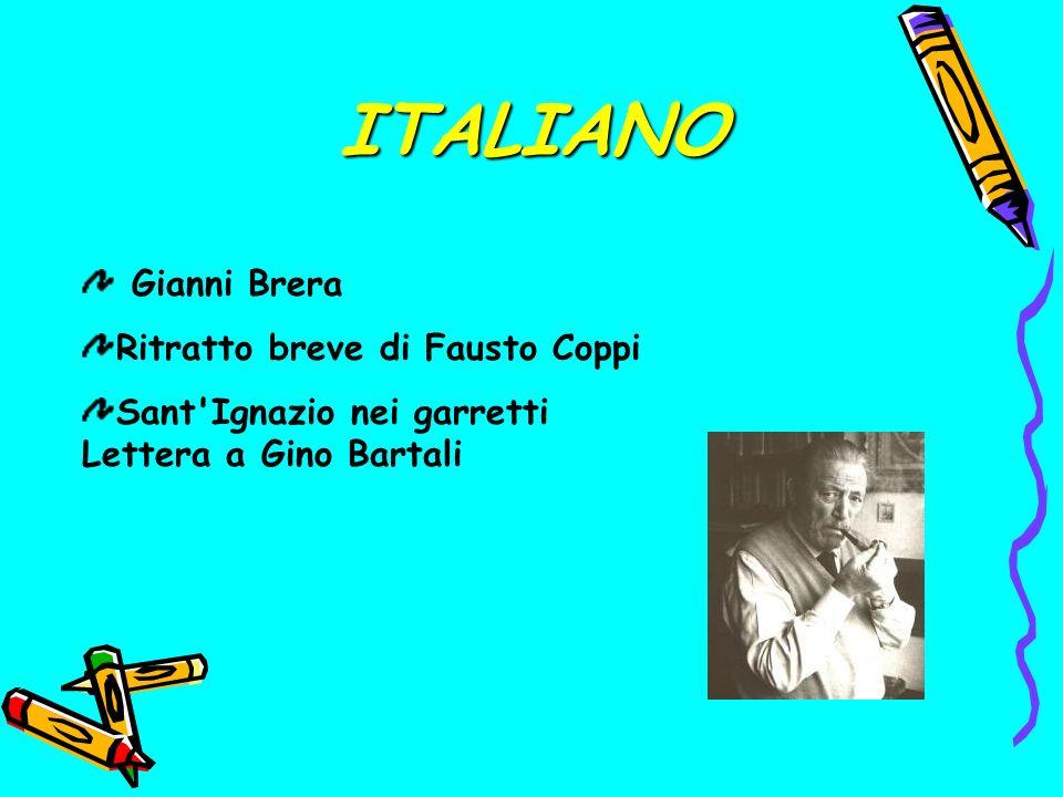 ITALIANO Gianni Brera Ritratto breve di Fausto Coppi Sant Ignazio nei garretti Lettera a Gino Bartali