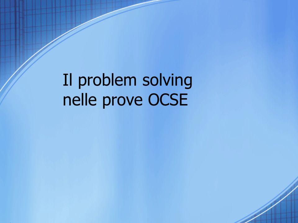 Il problem solving nelle prove OCSE