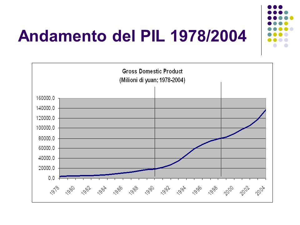 Andamento del PIL 1978/2004