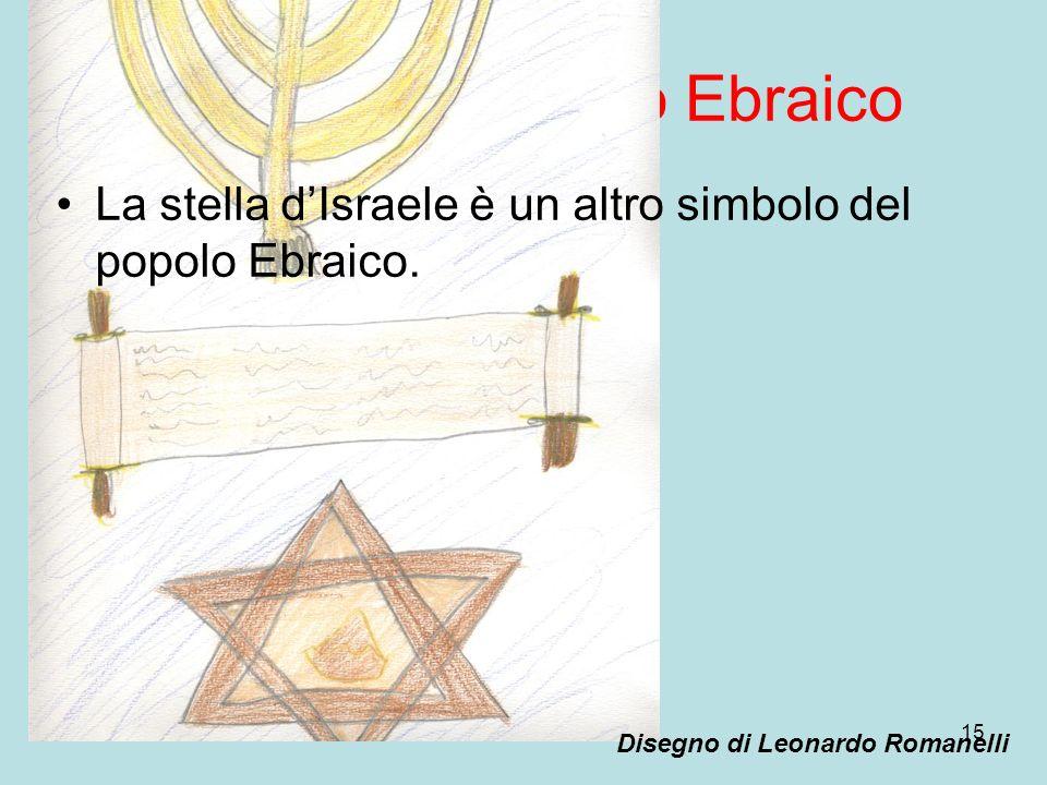 15 Simboli del popolo Ebraico La stella dIsraele è un altro simbolo del popolo Ebraico. Disegno di Leonardo Romanelli