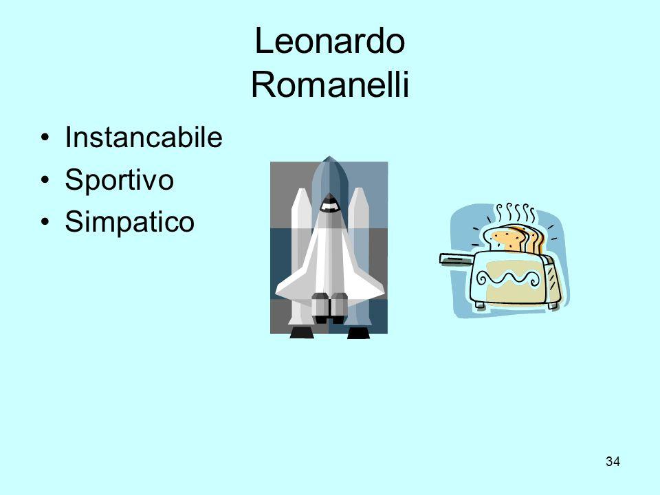 34 Leonardo Romanelli Instancabile Sportivo Simpatico