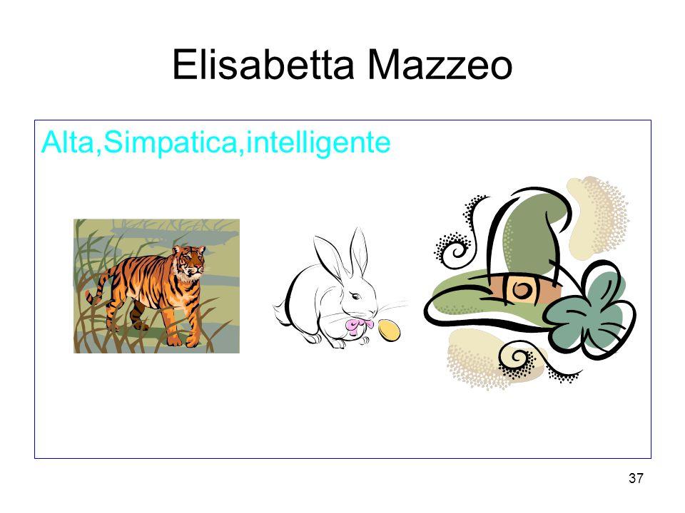 37 Elisabetta Mazzeo Alta,Simpatica,intelligente
