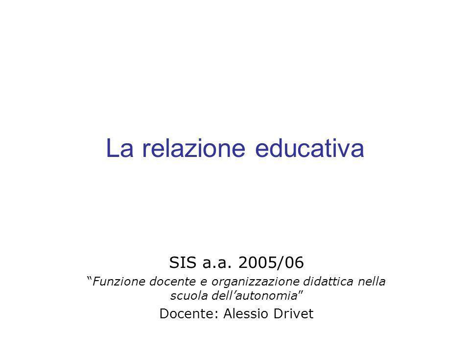 La relazione educativa SIS a.a.