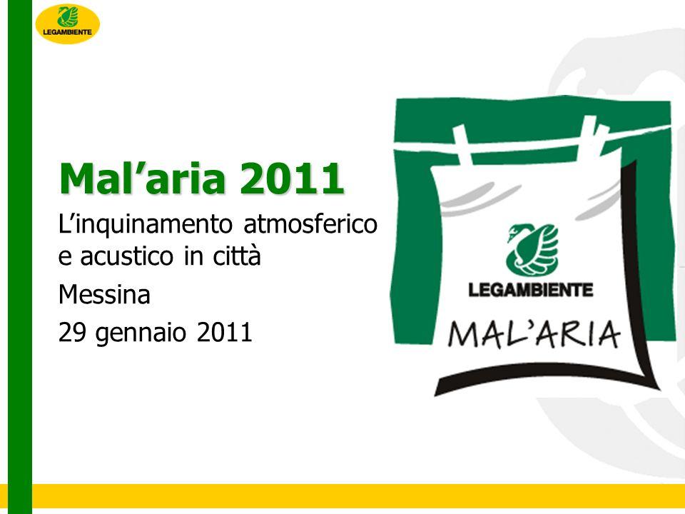 Malaria Malaria è la storica campagna di Legambiente contro linquinamento atmosferico e acustico nelle nostre città.