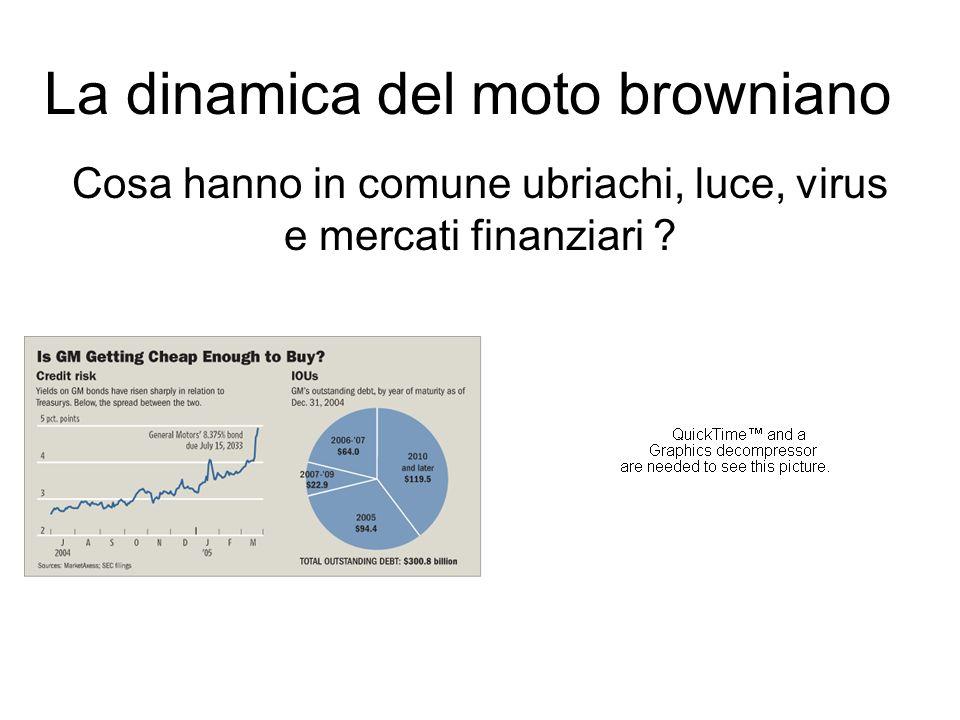La dinamica del moto browniano Cosa hanno in comune ubriachi, luce, virus e mercati finanziari ?