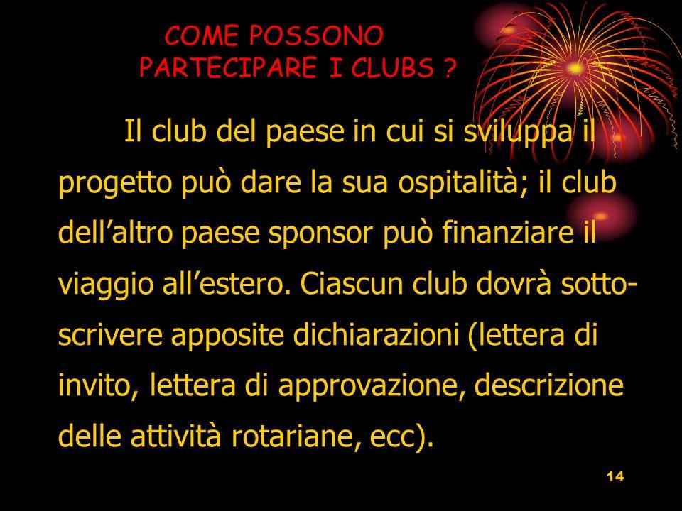 14 COME POSSONO PARTECIPARE I CLUBS .
