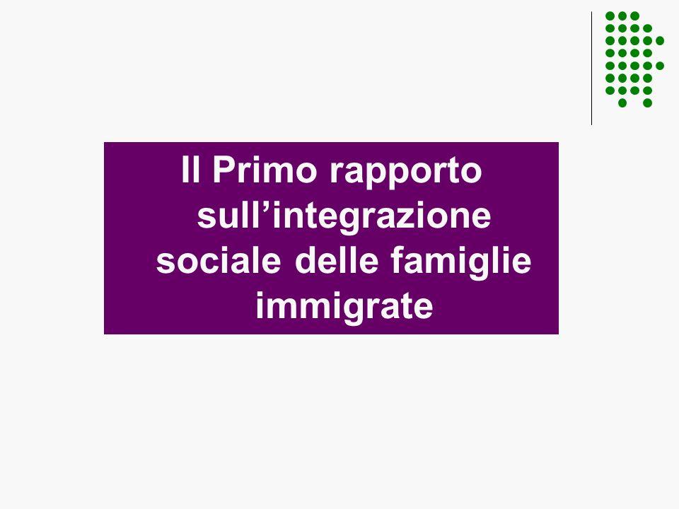 Il Primo rapporto sullintegrazione sociale delle famiglie immigrate