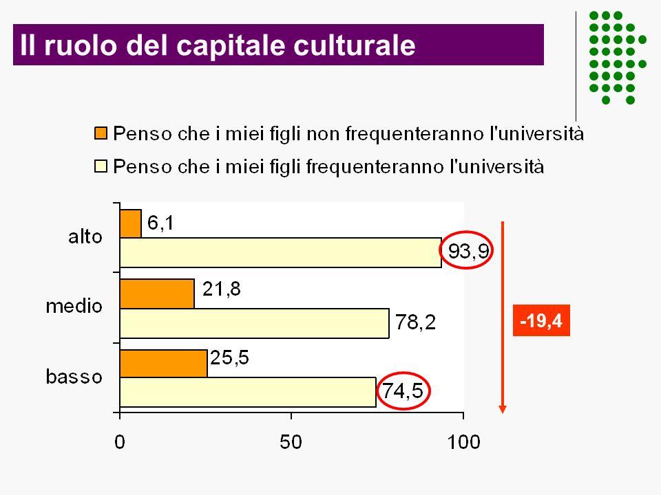 Il ruolo del capitale culturale -19,4