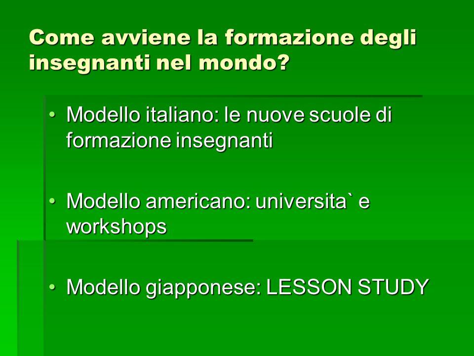 Come avviene la formazione degli insegnanti nel mondo? Modello italiano: le nuove scuole di formazione insegnantiModello italiano: le nuove scuole di