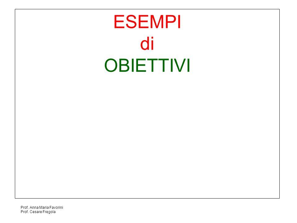 Prof. Anna Maria Favorini Prof. Cesare Fregola ESEMPI di OBIETTIVI