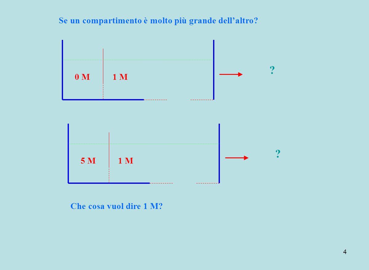 4 1 M5 M ? Se un compartimento è molto più grande dellaltro? Che cosa vuol dire 1 M? 1 M0 M ?