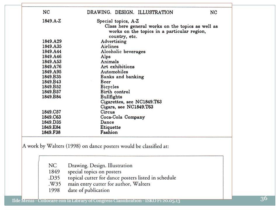 36 Ilde Menis - Collocare con la Library of Congress Classification - ISKO Fi 20.05.13