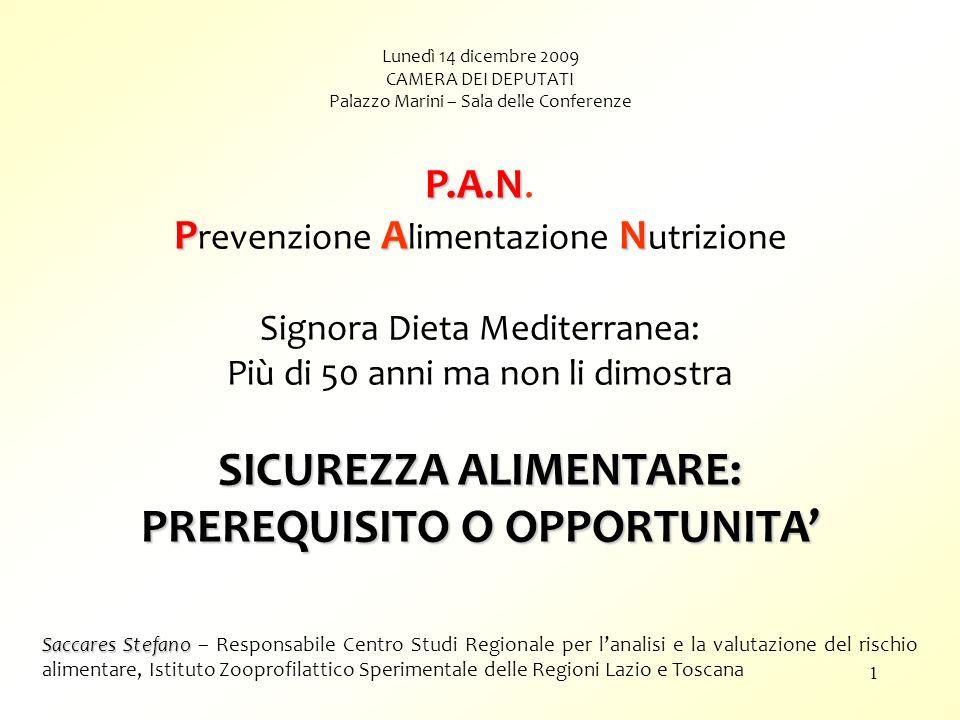Lunedì 14 dicembre 2009 CAMERA DEI DEPUTATI Palazzo Marini – Sala delle Conferenze P.A.N P.A.N. PAN P revenzione A limentazione N utrizione Signora Di