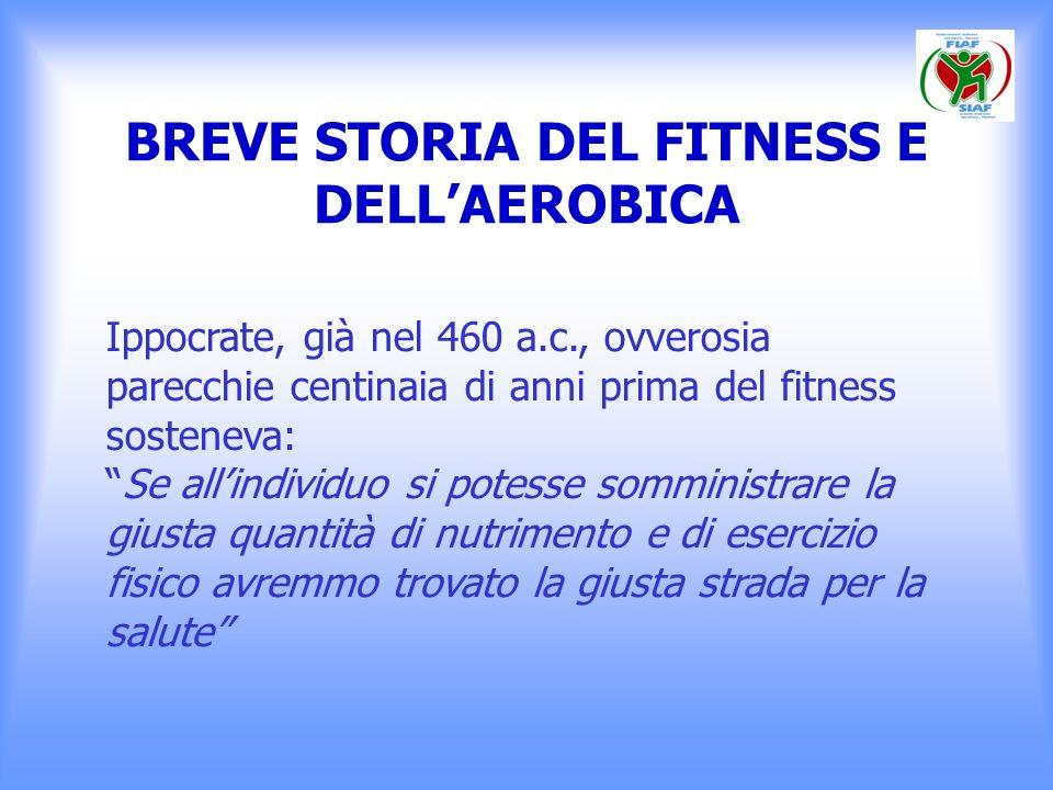 BREVE STORIA DEL FITNESS E DELLAEROBICA Solo successivamente i romani hanno coniato linossidabile detto Mens sana in corpore sano.