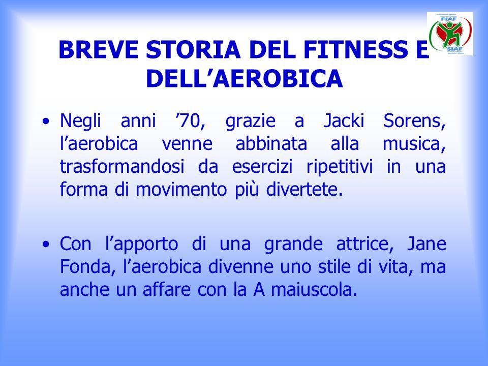 BREVE STORIA DEL FITNESS E DELLAEROBICA Sul finire degli anni 70 anche in Italia fa ingresso e si diffonde la cultura del corpo e dellimmagine di se.