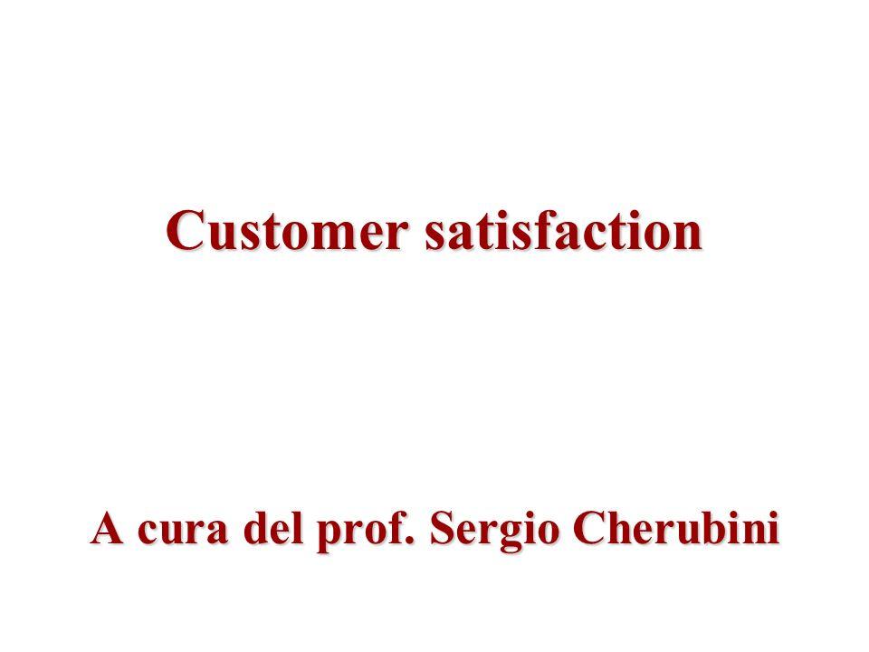 Customer satisfaction A cura del prof. Sergio Cherubini