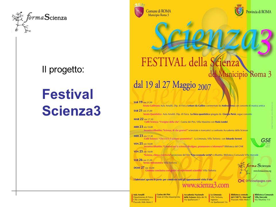 Il progetto: Festival Scienza3