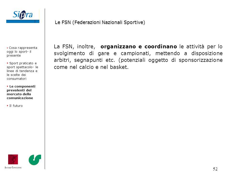 52 La FSN, inoltre, organizzano e coordinano le attività per lo svolgimento di gare e campionati, mettendo a disposizione arbitri, segnapunti etc. (po