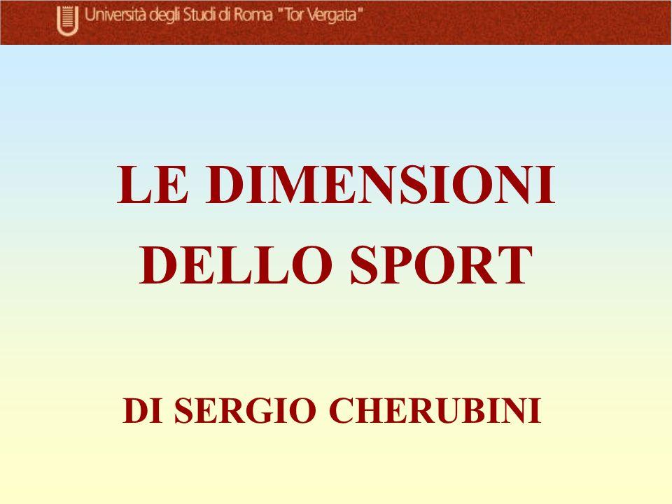 LE DIMENSIONI DELLO SPORT DI SERGIO CHERUBINI