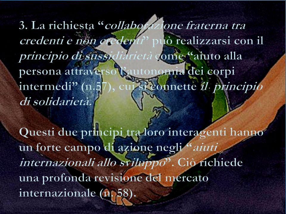 Alla luce dellesperienza personale e sociale, proviamo a riflettere e capire le parole del Papa sulla relazione con Dio e con il prossimo, ritenuta fattore necessario per realizzare una vera famiglia capace di aiuto.