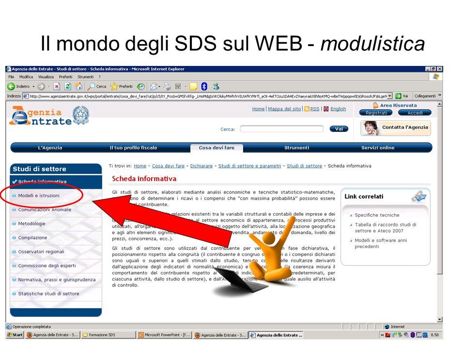 Il mondo degli SDS sul WEB - modulistica