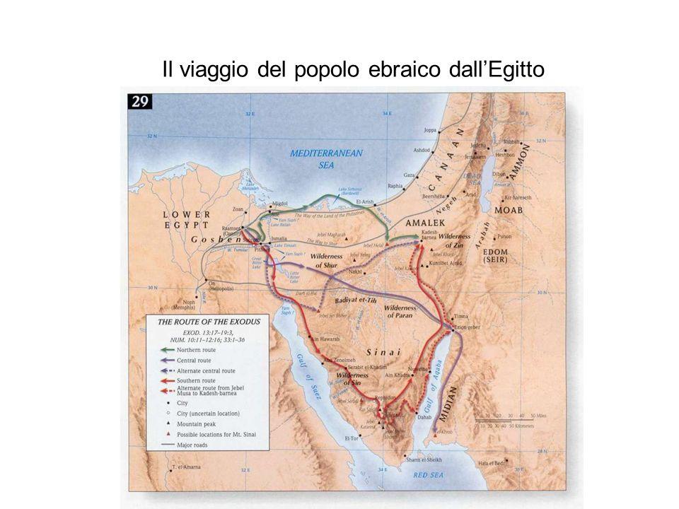 Il viaggio del popolo ebraico dallEgitto