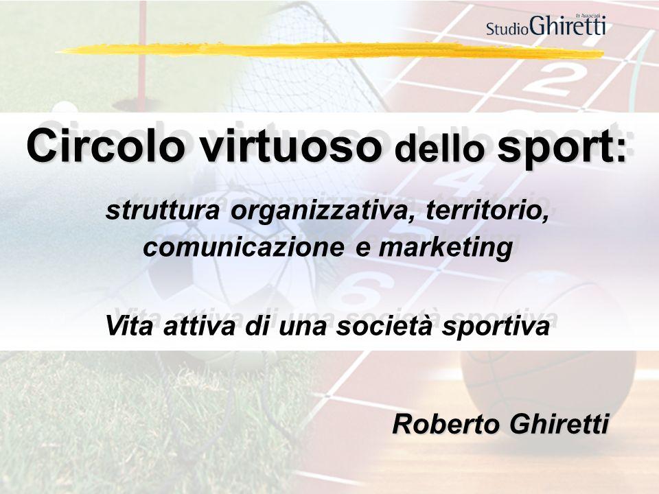 Roberto Ghiretti Circolo virtuoso dello sport : struttura organizzativa, territorio, comunicazione e marketing Vita attiva di una società sportiva Cir