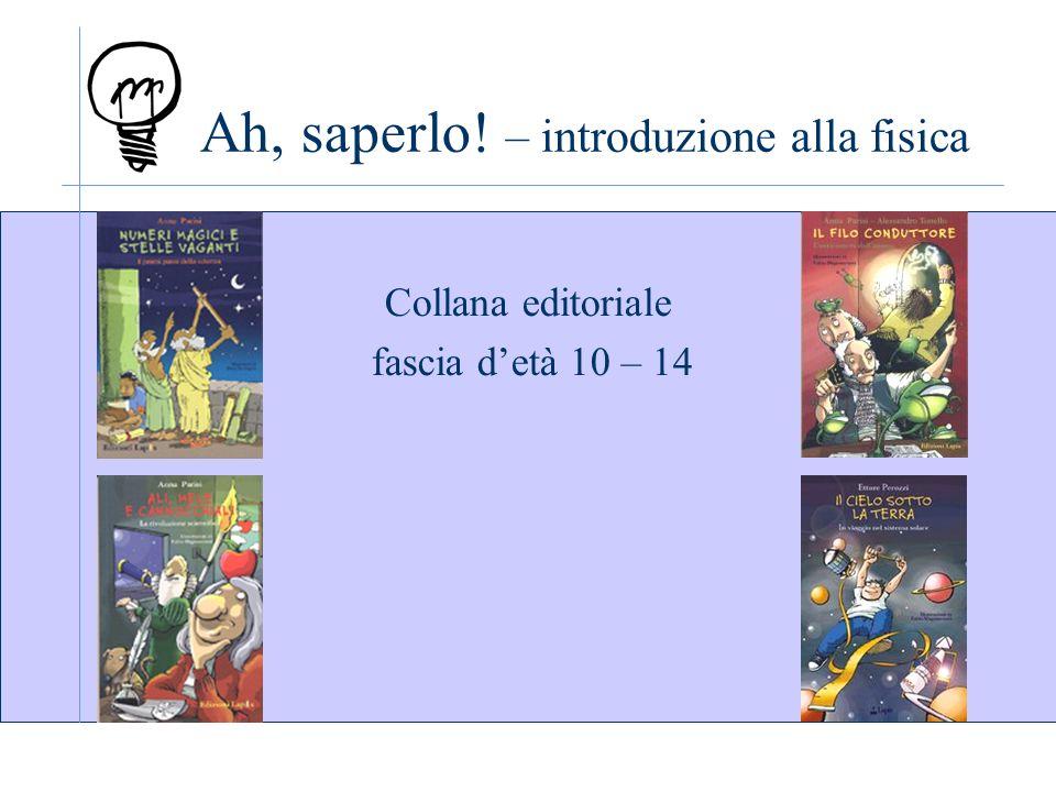 Ah, saperlo! – introduzione alla fisica Collana editoriale fascia detà 10 – 14