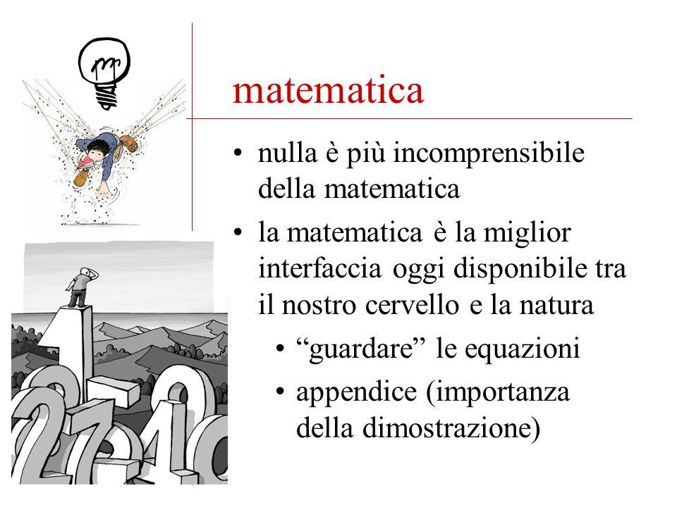 matematica nulla è più incomprensibile della matematica la matematica è la miglior interfaccia oggi disponibile tra il nostro cervello e la natura guardare le equazioni appendice (importanza della dimostrazione)