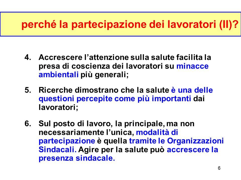 5 perché la partecipazione dei lavoratori (I).