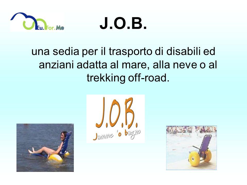 J.O.B. una sedia per il trasporto di disabili ed anziani adatta al mare, alla neve o al trekking off-road.