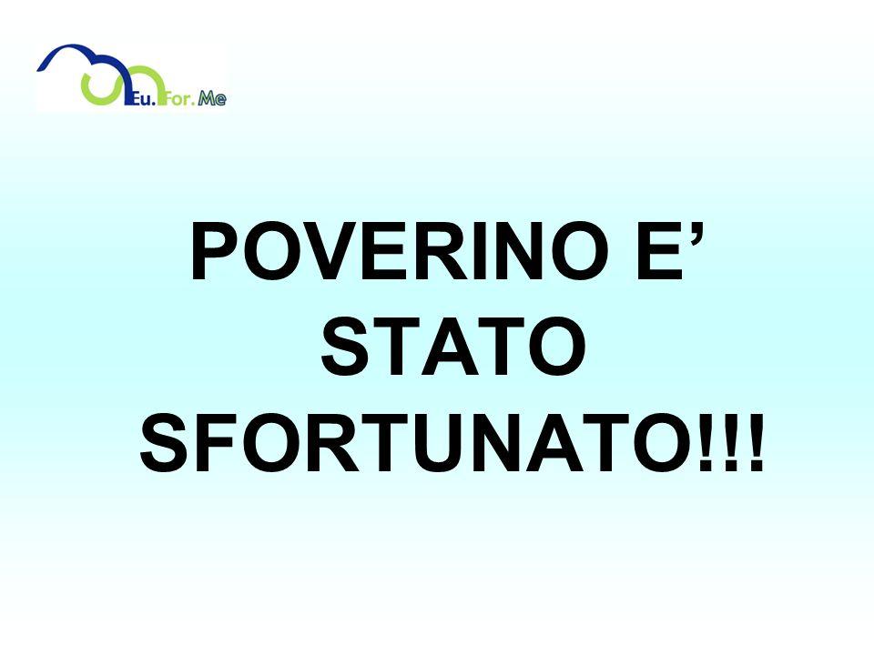 POVERINO E STATO SFORTUNATO!!!