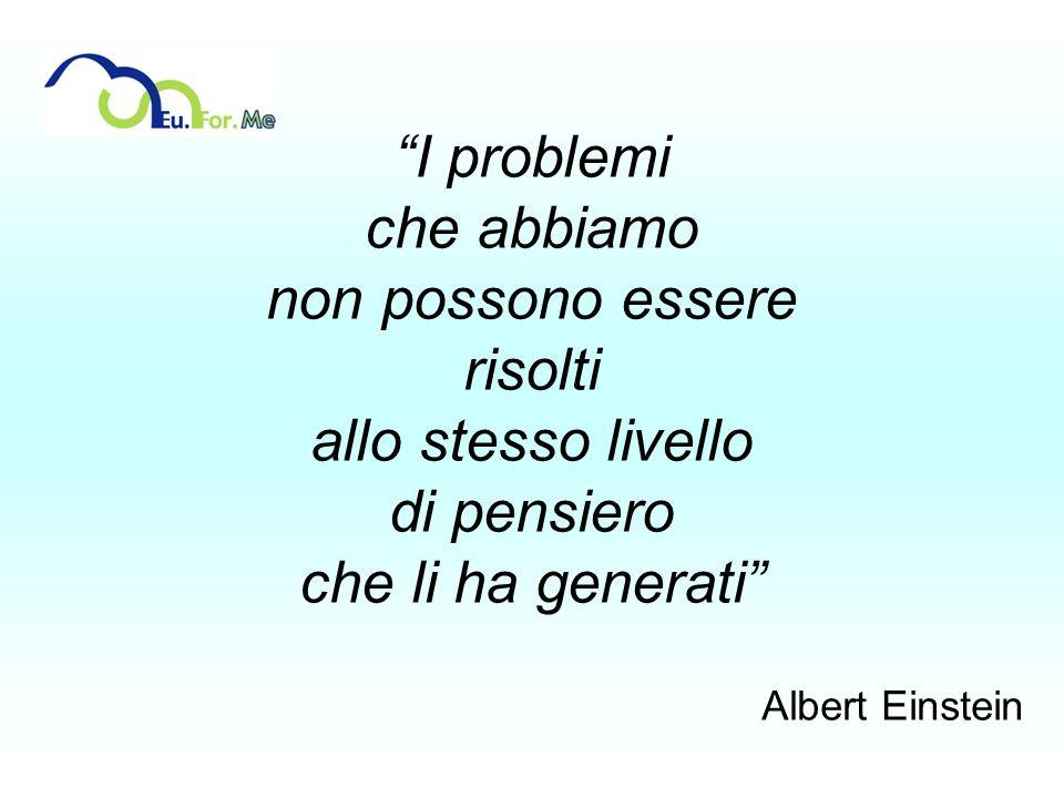 I problemi che abbiamo non possono essere risolti allo stesso livello di pensiero che li ha generati Albert Einstein
