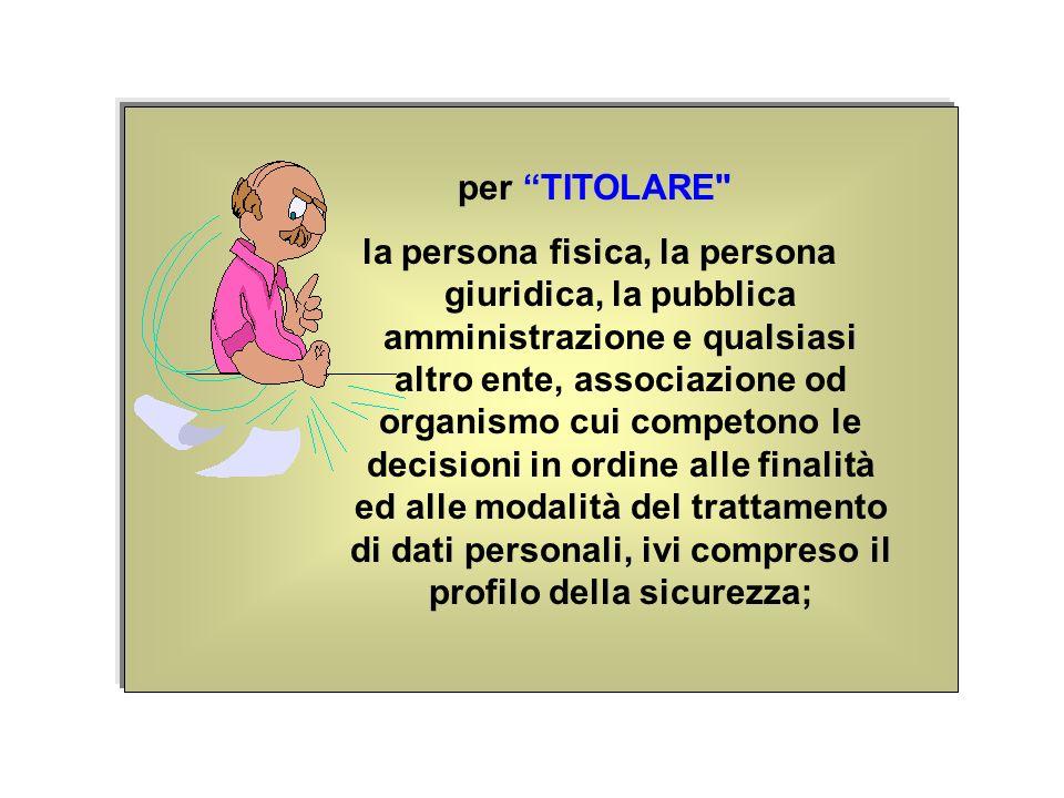 per TITOLARE