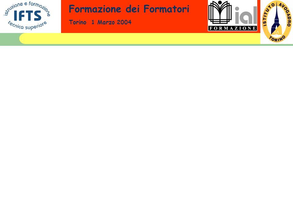 Formazione dei Formatori Torino 1 Marzo 2004