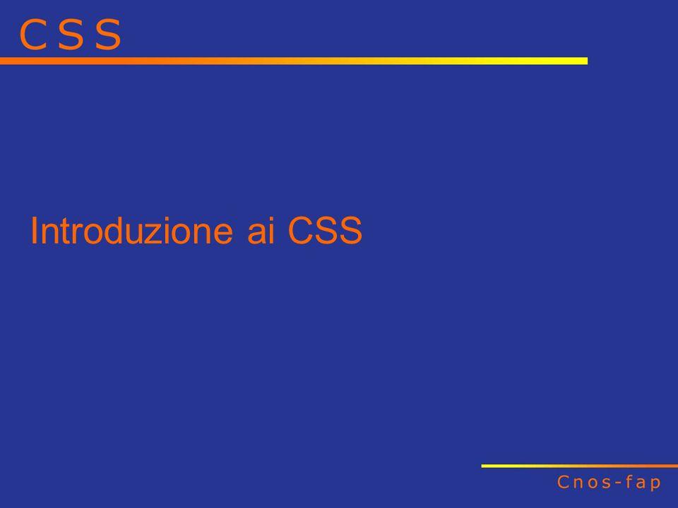 Introduzione ai CSS