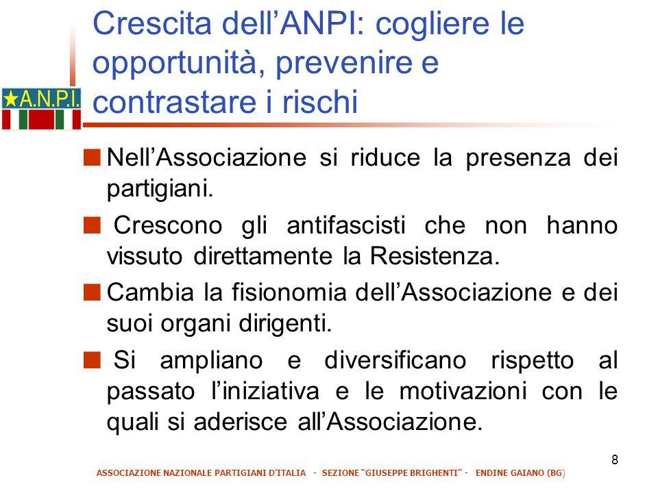 9 Il ruolo dellANPI Nella nuova stagione dellANPI va ribadito che: LANPI non è un partito.