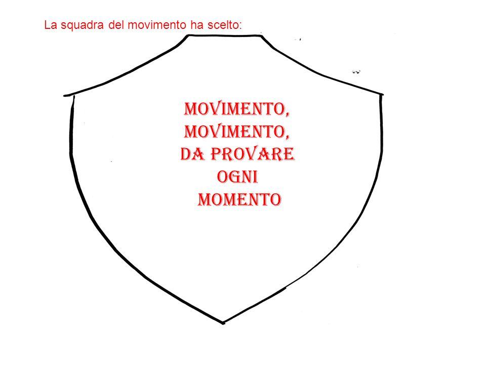 Movimento, movimento, Da provare Ogni momento La squadra del movimento ha scelto: