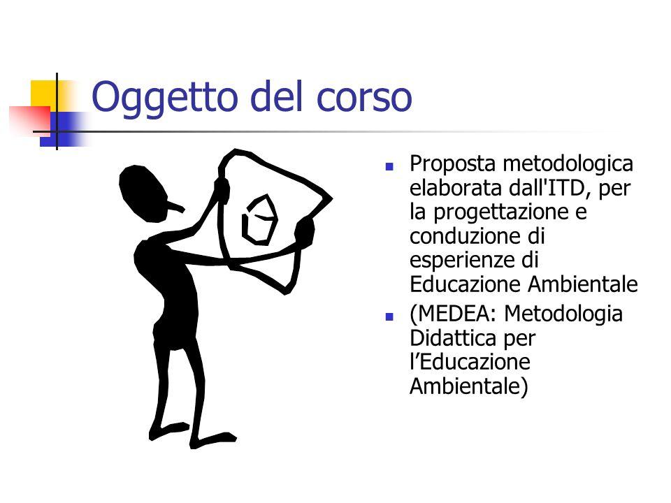 Oggetto del corso Proposta metodologica elaborata dall ITD, per la progettazione e conduzione di esperienze di Educazione Ambientale (MEDEA: Metodologia Didattica per lEducazione Ambientale)