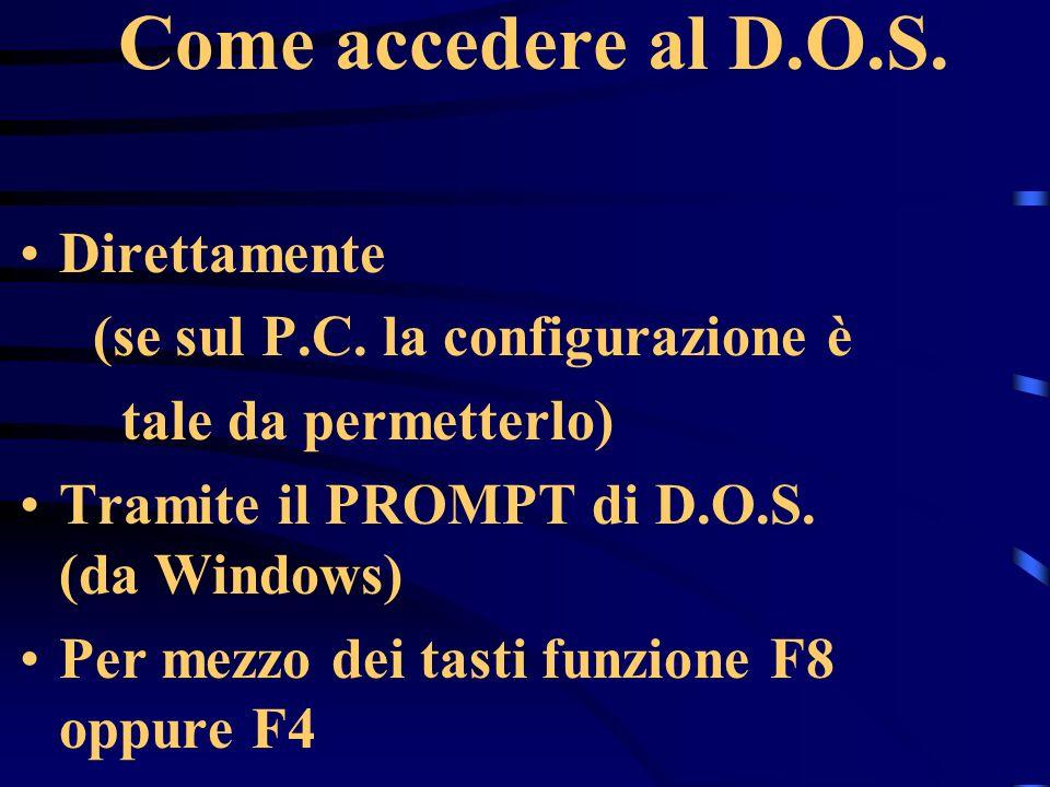 Come accedere al D.O.S. Direttamente (se sul P.C.