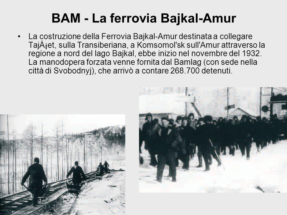 BAM - La ferrovia Bajkal-Amur La costruzione della Ferrovia Bajkal-Amur destinata a collegare Tajšet, sulla Transiberiana, a Komsomol'sk sull'Amur at